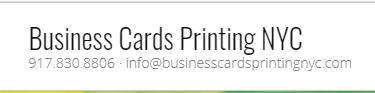 Business Card Printing NYC