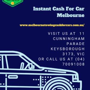 Get Instant Cash For Car Melbourne