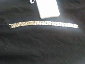 Womans silver diamond bracelet